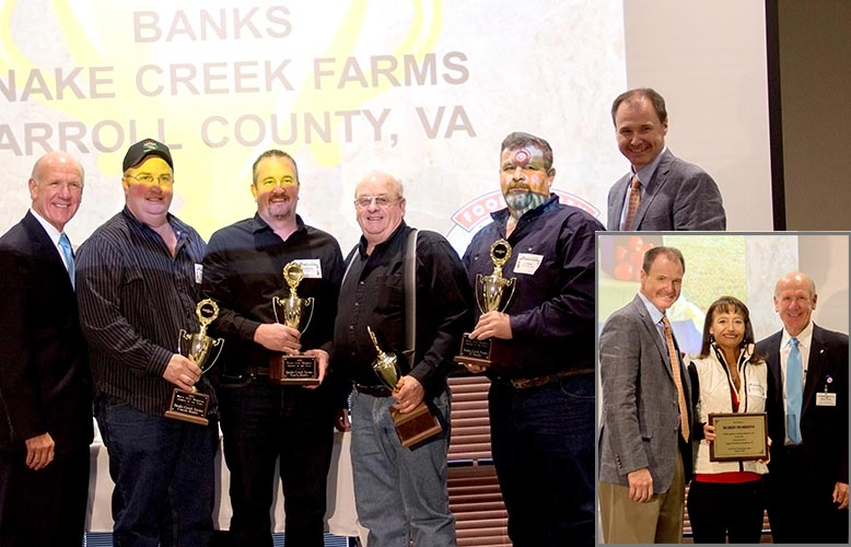 Snake Creek Farms of Carroll County, VA Receives Wayne Scott Memorial Grower of the Year Award