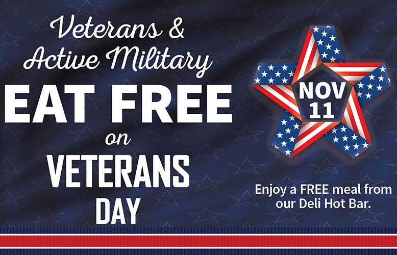 Free Meal for Veterans
