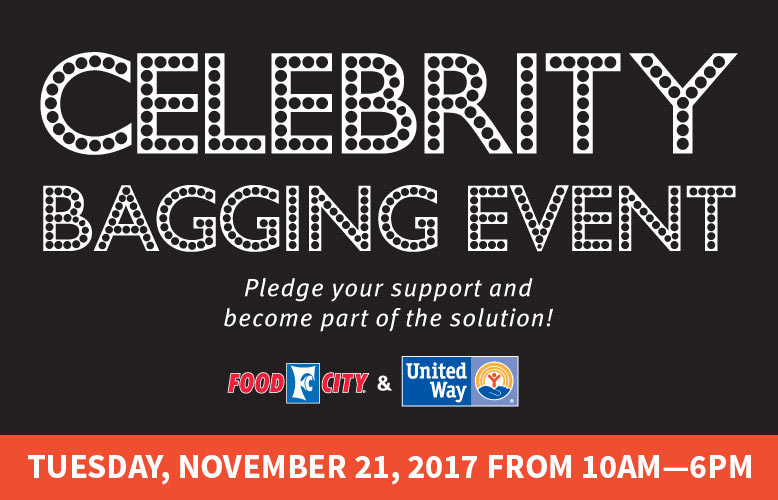 United Way Celebrity Bagging Event