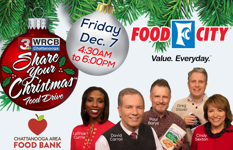 "Food City Partners with Channel 3's ""Share Your Christmas"" Food Drive Campaign"