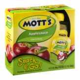 Mott's  Snack & Go! Portable Applesauce Po...