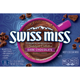 Swiss Miss Hot Cocoa Mix, Dark Chocolate, Indulgent Collection, 8 Pack