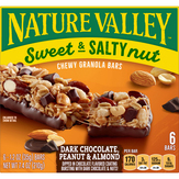 Nature Valley  Sweet & Salty Nut Dark Chocolate, Peanut & Almond Granola Bars