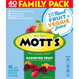 Mott's Fruit Flavored Snacks, Assorted Fruit, Family Size