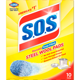 S.o.s  Steel Wool Soap Pads - 10 Ct