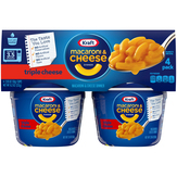 Kraft Triple Cheese - 4 Ct. Macaroni And..., Cups