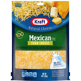 Kraft Shredded Cheese, Four Cheese, Mexican Style