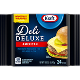 Kraft Deli Deluxe American Slices 24 Ct Cheese