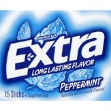 Extra Gum, Sugarfree, Peppermint