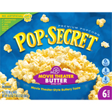 Pop-secret  Movie Theater Butter Microwave Pop..., 6 Pack