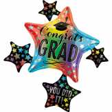 Food City Congrats Grad Colorful Cluster Balloon