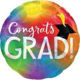 Food City Congrats Grad Iridescent Balloon
