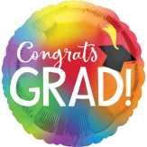 Food City Congrats Grad Colorful Jumbo Balloon