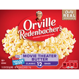 Orville Redenbacher's Popping Corn, Gourmet, Movie Theater Butter, Classic Bags, Value Size
