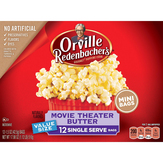 Orville Redenbacher's Popping Corn, Movie Theater Butter, Mini, Value Size, 12 Single Serve Bags