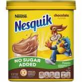 Nesquik Powder, No Sugar Added, Chocolate Flavor