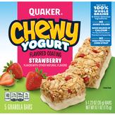 Quaker  Chewy Yogurt Flavored Coating Stra...