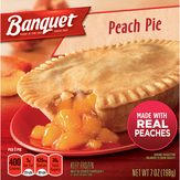 Banquet Oven Baked Peach Fruit Pie