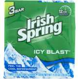 Irish Spring  Deodorant Soap Icy Blast - 3 Ct