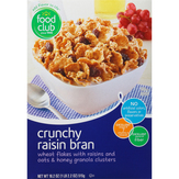 Food Club Crunchy Raisin Bran