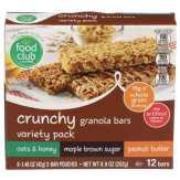 Food Club Variety Pack Crunchy Granola Bars