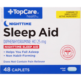 Topcare Nighttime, 25 Mg, Mini-caplets Slee...