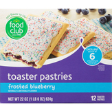 Food Club Frosted Blueberry Toaster Pastries