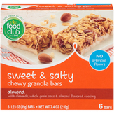Food Club Sweet & Salty Almond Chewy Granola Bars