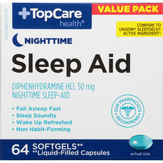 Topcare Maximum Strength Sleep Aid Softgels