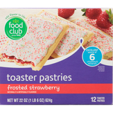 Food Club Frosted, Strawberry Toaster Pastries