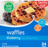 Food Club Blueberry Waffles