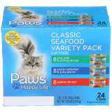 Paws Seafood Variety Pack Cat Food