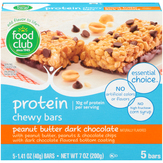 Food Club Peanut Butter Dark Chocolate Protein Chewy Bars