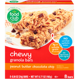 Food Club Chewy Peanut Butter Chocolate Chip Granola Bars