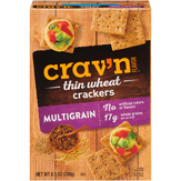 Crav'n Flavor Multigrain Thin Wheat Crackers