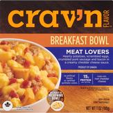 Crav'n Flavor Breakfast Bowl, Meat Lovers