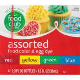 Food Club Assorted Food Colors & Egg Dye