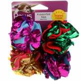 Paws Premium Crinkle Cat Balls Assorted Toys