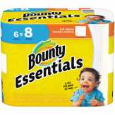 Bounty Essentials  White 6 Roll 6 Roll