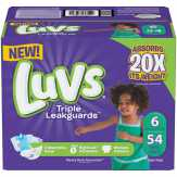 Luvs Luvs Ultra Leakguards Diapers Size 6 54 Count Diapers