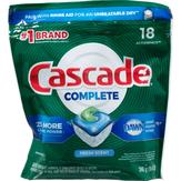 Cascade Complete Action Pacs Dishwasher Detergent, Fresh Scent - 18 Ct
