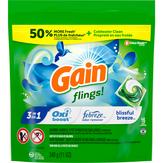 Gain Flings! Liquid Laundry Detergent Pacs, Blissful Breeze - 16ct