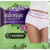 Always Discreet Maximum Classic Cut Xl Underwear