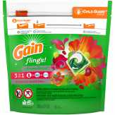 Gain Flings! Tropical Sunrise 3 In 1 Detergent Pacs