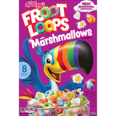 Froot Loops Cereal, With Marshmallows, Sweetened, Multi-grain