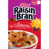 Kellogg's Original Raisin Bran With Cranberriescranberries, Good Source Of Fiber, 14oz Box Breakfast Cereal