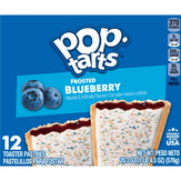 Pop-tarts Toaster Pastries, Blueberry, Frosted, 12 Pack