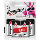 Energizer  Max C - 4 Ct
