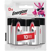 Energizer  Max D - 4 Ct