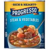 Progresso Rich&hearty Steak&vegetables Soup